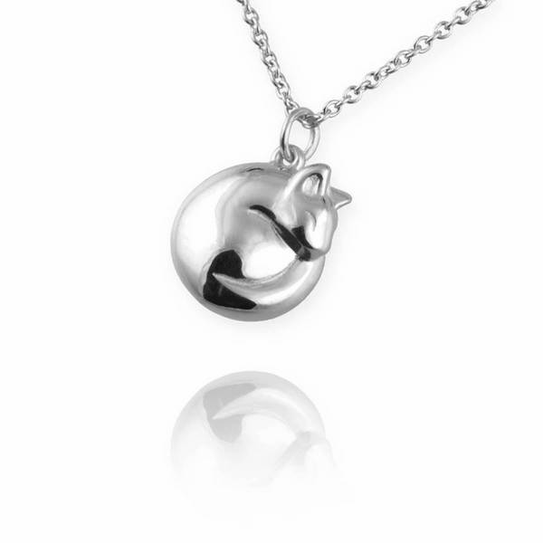 Curled Up Cat Necklace from Jana Reinhardt